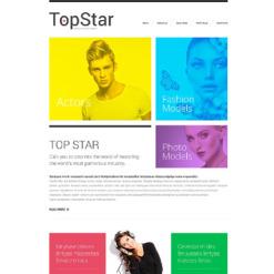 Responsive Website Vorlage für Modellagentur