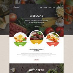 Responsives WordPress Theme für European Restaurant