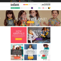 Responsives Shopify Theme für Babyshop