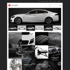 Responsives WordPress Theme für Autoteile