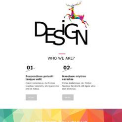 Responsive Newsletter Vorlage für Designstudio