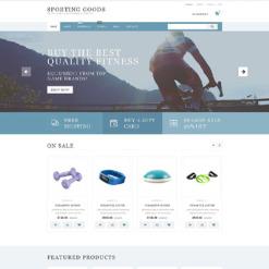 Sports Store Responsive WooCommerce Theme