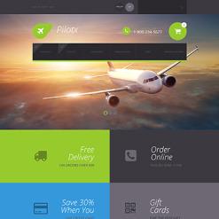 Responsywny szablon ZenCart #55604 na temat: prywatne linie lotnicze
