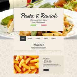 Responsive Website Vorlage für Italienisches Restaurant