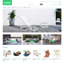 Responsives Magento Theme für Gartendesign