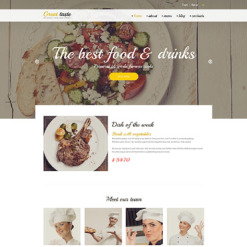 Food & Drink Responsive Drupal Template