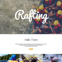 Rafting Responsive Website Template
