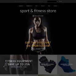 Responsive OpenCart Vorlage für Fitness