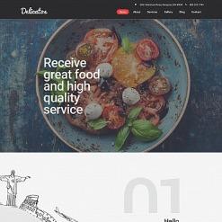 Responsives Moto CMS 3 Template für Italienisches Restaurant
