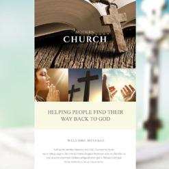 Responsive Newsletter Vorlage für Religiöse
