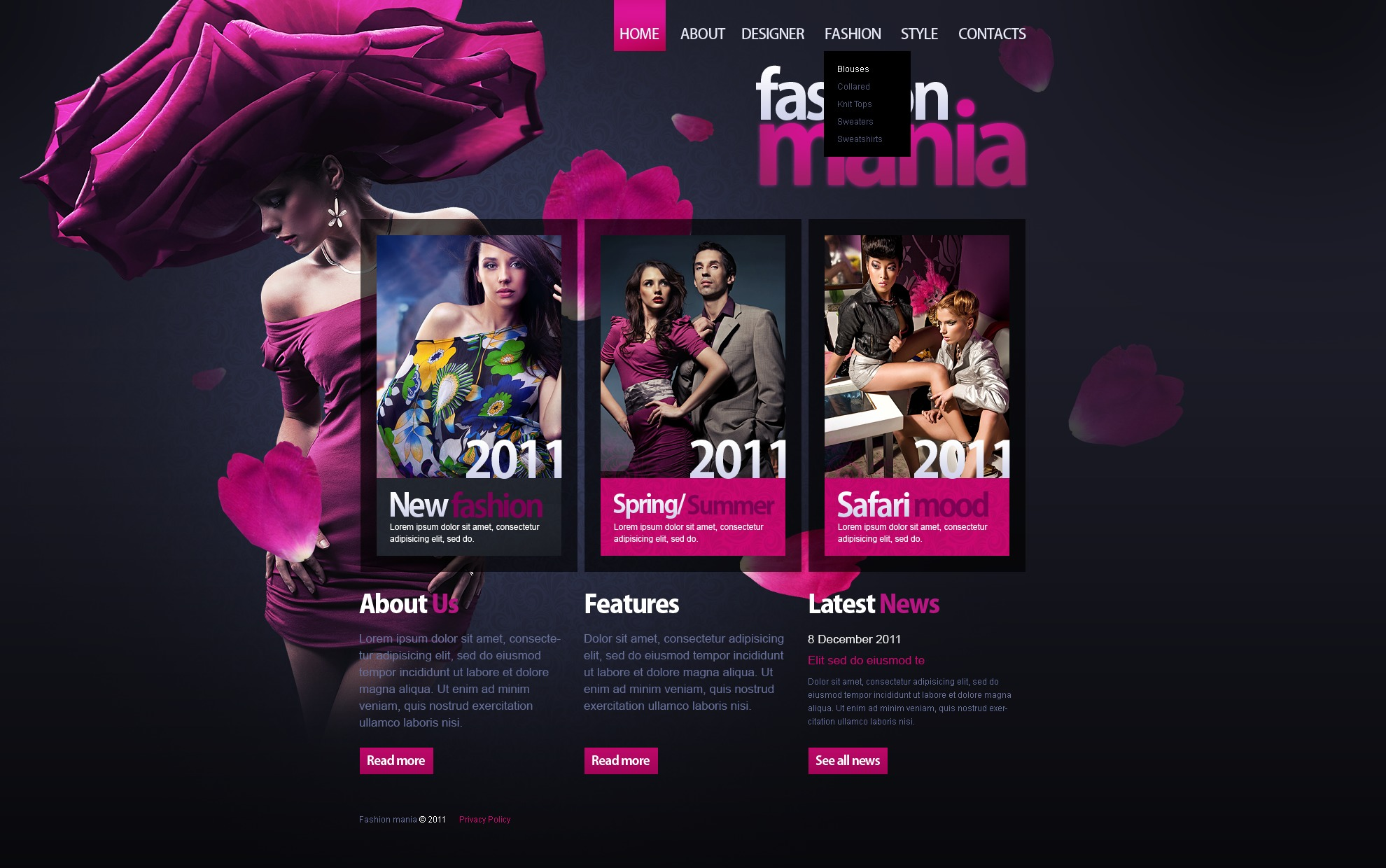 Fashion and style web site