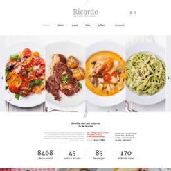 Responsive Joomla Vorlage für European Restaurant