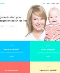 babysitter ベビーシッター向けのホームページテンプレート販売
