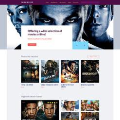 Responsive Website Vorlage für Film