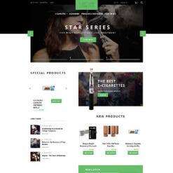 Magento тема №57714 на тему Шаблон сайтов табачных изделий