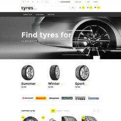 Responsive OpenCart Vorlage für Räder & Reifen