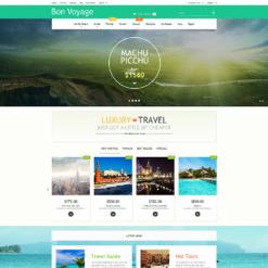 Responsives PrestaShop Theme für Reisebüro