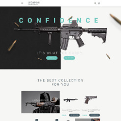 Responsive OpenCart Vorlage für Waffenladen