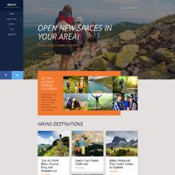 Responsive Website Vorlage für Wandern