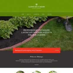 Responsive Website Vorlage für Landschaftsgestaltung