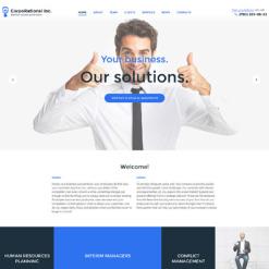 Responsives WordPress Theme für Business und Dienstleistungen