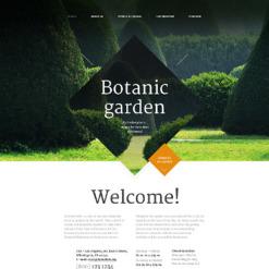 Responsive Website Vorlage für Gartendesign