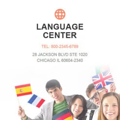 Responsive Newsletter Vorlage für Sprachschule