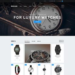 Responsive OpenCart Vorlage für Uhren