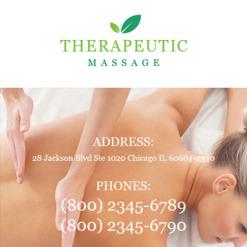 Responsive Newsletter Vorlage für Massagesalon