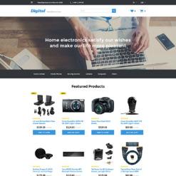 Responsive OpenCart Vorlage für  Elektronikgeschäft