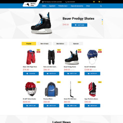 Responsives PrestaShop Theme für Hockey