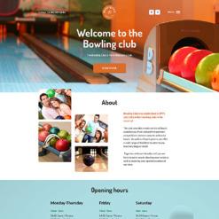 Responsive Website Vorlage für Bowling