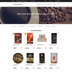 Responsive OpenCart Vorlage für Kaffeeshop