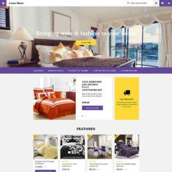 Responsive OpenCart Vorlage für Bettwäsche und Spitzen