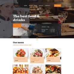 Responsive Website Vorlage für Cafe und Restaurant