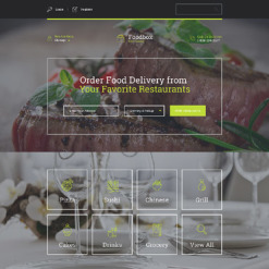 Responsives Landing Page Template für Lieferservice