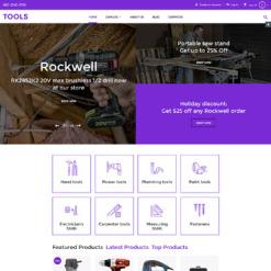 Responsive VirtueMart Vorlage für Werkzeuge und Geräte