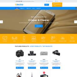 Responsive VirtueMart Vorlage für  Elektronikgeschäft