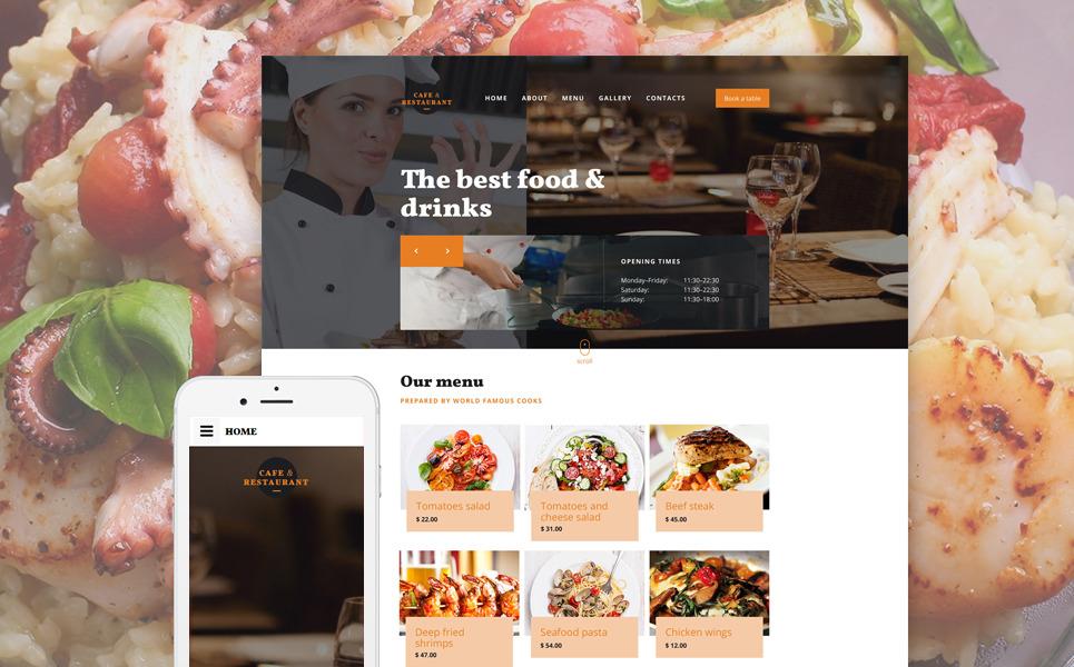 Cafe amp Restaurant Free Website Templates  Template Monster