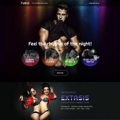 Responsives Landing Page Template für Nachtclub