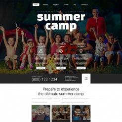 Responsives Moto CMS 3 Template für Sommercamp