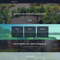 Responsives Moto CMS 3 Template für Landschaftsgestaltung