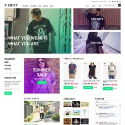 Responsives Magento Theme für T-Shirt Shop