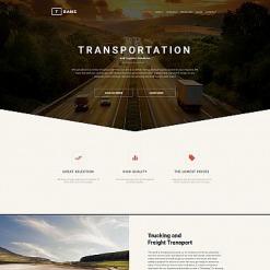 Responsives Moto CMS 3 Template für Verkehrswesen
