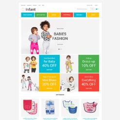Адаптивный Magento тема №58581 на тему Шаблон магазина детских товаров