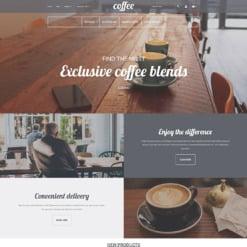 Адаптивный Magento тема №58605 на тему Шаблон кофешопа