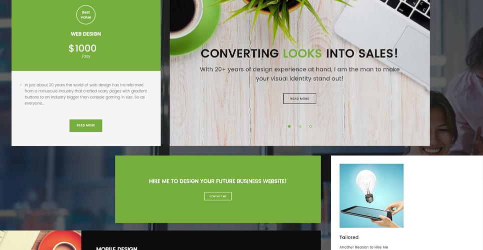 Шаблоны вордпресс для портфолио веб дизайнера