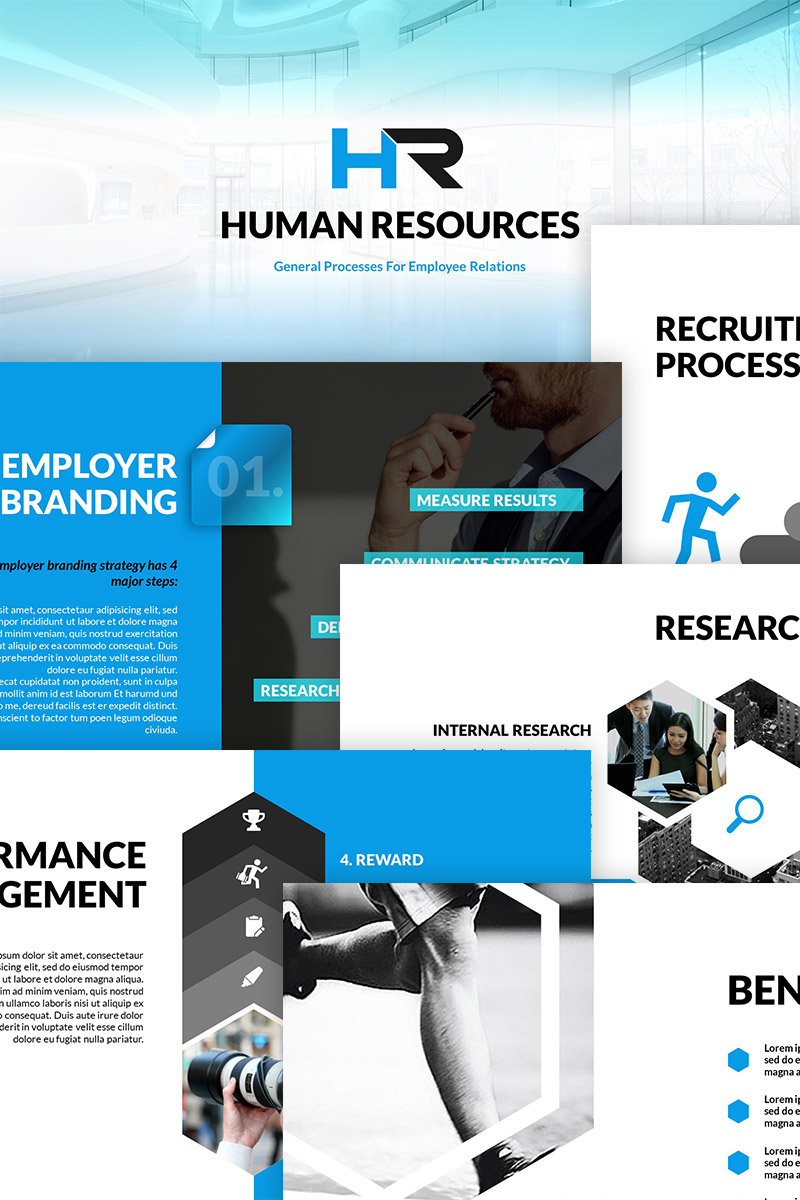 Human Resources Illustration PowerPoint Template