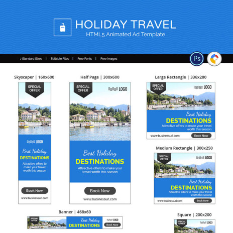 Animated banners tour travel holiday travel banner ad templates animated maxwellsz