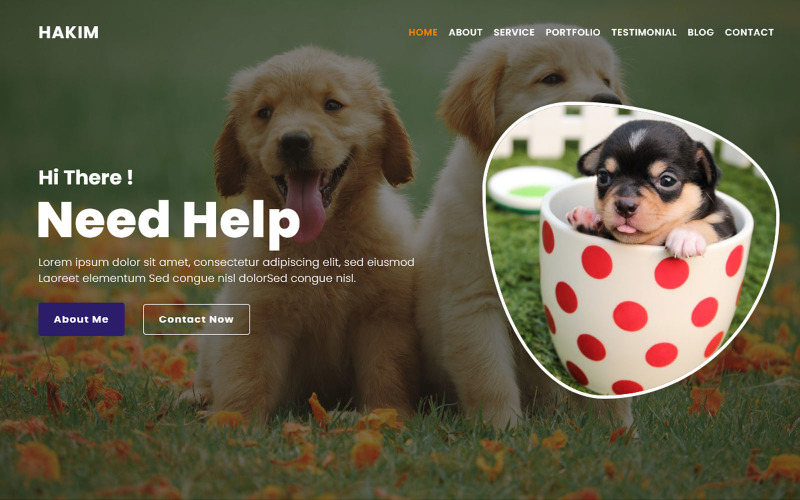 Al-Hakim Pet Animal Landing Page Template